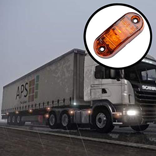 Zhangl 2 stuks DC 10-30 V Auto Truck Trailer Piranha LED Side Marker Indicator Lights Bulb Lamp, lichtkleur: geel