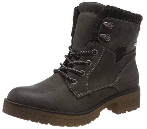 Tom Tailor Womens 9091008 Mid Calf Boot Bootie Boot, Coal, 4.5 UK