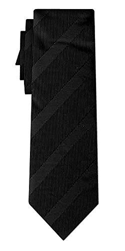 Cravate rayée stripe I black in black