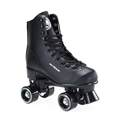 Rollschuhe für Kinder Skates Rollerskates Inliner Disco Skates Sport NQ8400S (Schwarz, 37)