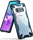 Ringke Fusion-X Designed for Galaxy S10e (5.8') Case, Built in Dot Matrix Rear PC Anti-Cling Renovated Bumper Military Drop Tested Defense Double Protection Cover for Galaxy S10e - Space Blue