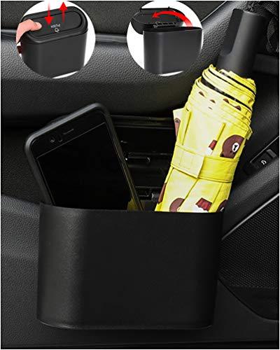 MAYGDKK 車のゴミ 車の収納箱 車のゴミ箱をぶら下げ 車内 グッズ 小物入れ 車用ダストボックス 防水 便利車内ゴミ箱 車のごみ箱 車のドアのパケットとシートバック 車のインテリアアクセサリー カー用品 黒 K02