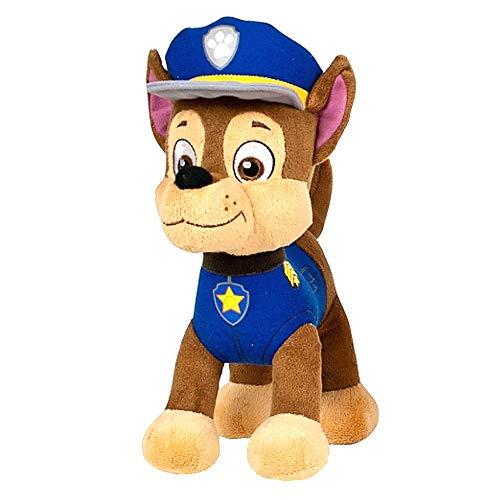 JuniorToys Design für Paw Patrol Plüschtier 28cm Helfer auf Vier Pfoten als kuschelige Plüschhunde (Chase Polizei Schäferhund)