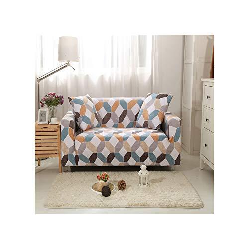 Cheryl Norri GeoStretchable elastischer Spandex-Sofa-Abdeckung für Hunde Haustiere Magie Slip Cover Sofa Schutz 1/2/3/4 Seater, Modell 5,4 Seat (235-300Cm), CH