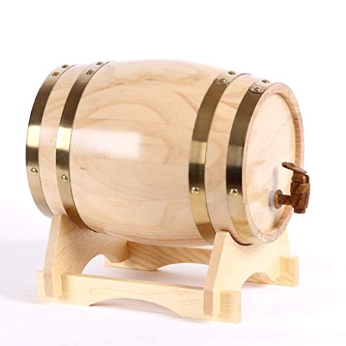GR5AS Personalisiertes Eichenholz-Fass – Whiskey, Bier, Wein, Bourbon, Tequila, Rum, heiße Sauce und mehr, Holz, Style E, (20L) UK