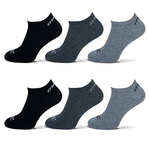 O'Neill | Unisex | Sneaker Socken | 6er Set | Sportsocken Freizeitsocken Sneakersocken für Damen und Herren (Grau/Antrazit/Schwarz, 35-38)