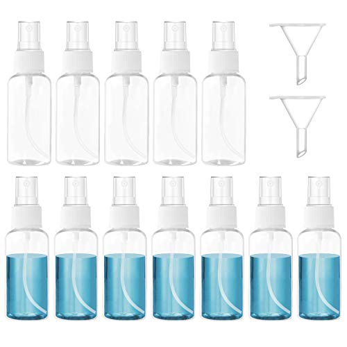 スプレーボトル 30ml 空のプラスチック霧吹きスプレー容器 旅行用小分けボトル アトマイザーセット トイレタリー詰替ボトル(12 個セット)