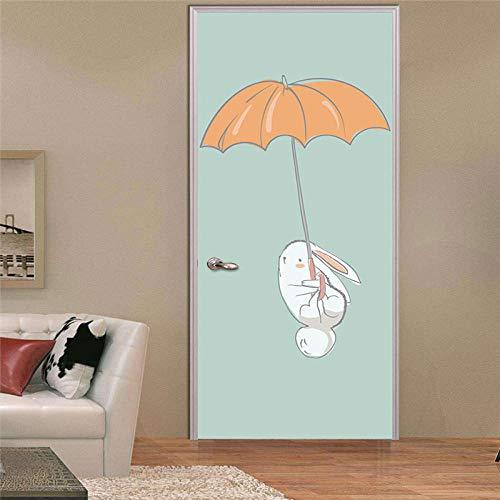 Cooldeerydm deursticker voor woonkamer, slaapkamer, knutselen, PVC, zelfklevend, waterbestendig, 77 x 200 cm