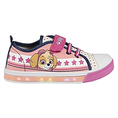 The Paw Patrol S0708509, Zapatillas Casual con LED 72439 Unisex-Baby, Rosa/Blanco, 3.5 Anni de The Paw Patrol