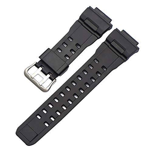 Hemobllo Cinturino di ricambio per orologio GW9400 G-Shock – Cinturino di ricambio in resina orologio da polso per uomo donna compatibile con Casio GW9400 G Shock (nero)
