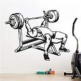 Pegatinas de pared para gimnasio, decoración del hogar, sala de estar, dormitorio, fondo de pared, calcomanías de papel autoadhesivas A8 53x42cm
