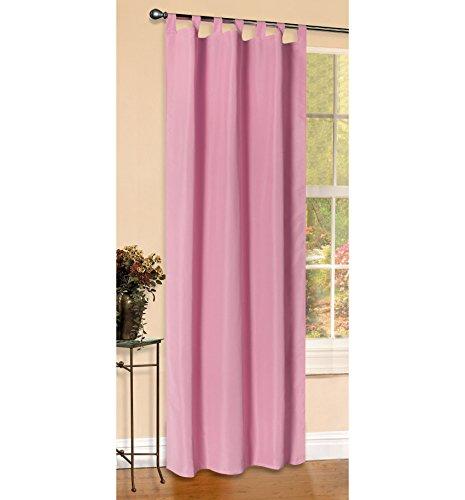 Vorhang Blickdicht Matte unifarbene Gardine mit Schlaufen. Aus edlem Microsatin Micofaser-Gewebe, 225x140, Pink,...