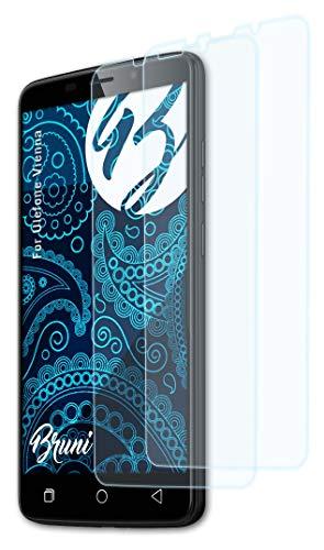 Bruni Schutzfolie kompatibel mit Ulefone Vienna Folie, glasklare Bildschirmschutzfolie (2X)