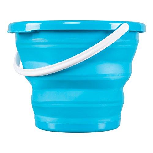JE CHERCHE UNE IDEE ME2154 Seau Rétractable Rond Plastique Bleu/Rose/Vert/Violet 37 x 5,4 x 37 cm - Coloris Aléatoire