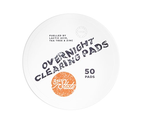 31st State Overnight Clearing Pads for Teen Boys- Gently Exfoliating...