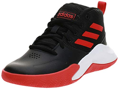 adidas Ownthegame K Wide, Zapatillas de Baloncesto Unisex Niño, Multicolor (Negbás/Rojact/Ftwbla 000), 34 EU