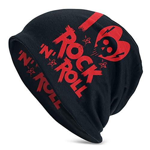 Hdadwy I Love Rock 'n' Roll Unisex Adulto Gorro de poliéster Gorra de Invierno al Aire Libre Moda Gorras cálidas