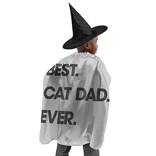 Best Cat Dad Ever Cute Witch Dress Halloween Costume Luxury Suit with Hat. Black