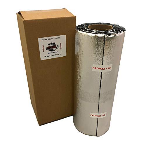 FatMat ProMax 110mil Self-Adhesive Sound Deadener with Install Kit (25 Sq Ft)