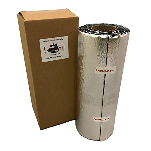 FatMat ProMax 110mil Self-Adhesive Sound Deadener with Install Kit (25 Sq Ft)