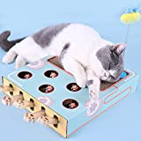 Fansport Cat Scratch Pad Toy Corrugated Cat Hunt Toy Cat Gat Punch Juego para Gatitos
