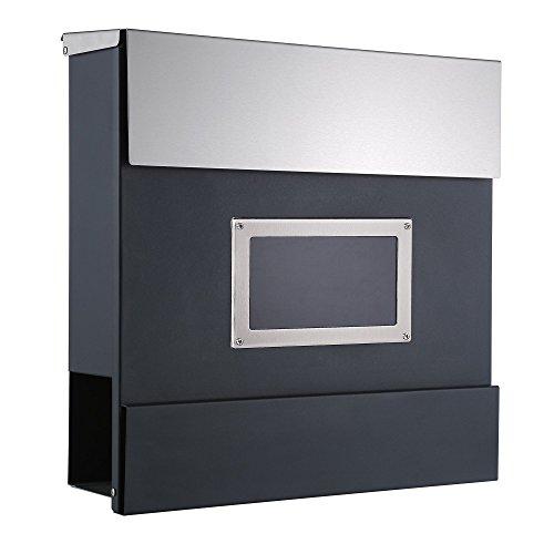 Zelsius Wandbriefkasten, Briefkasten mit Sichtfenster und Zeitungsfach, Postkasten, Mailbox (Turin)