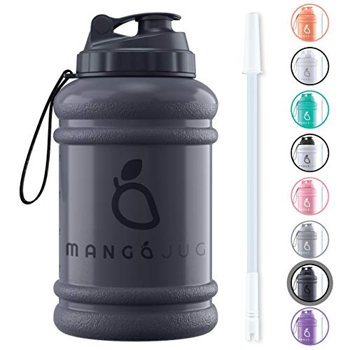 Mango 2.2 Litre Water Bottle With Straw and Time markings - BPA Free Xl Jug...