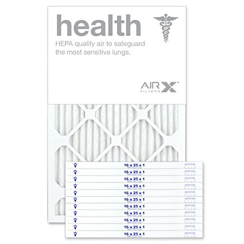 AIRx Filters 16x25x1 Air Filter MERV 13 Pleated HVAC AC Furnace Air Filter, Health 12-Pack, Made in the USA