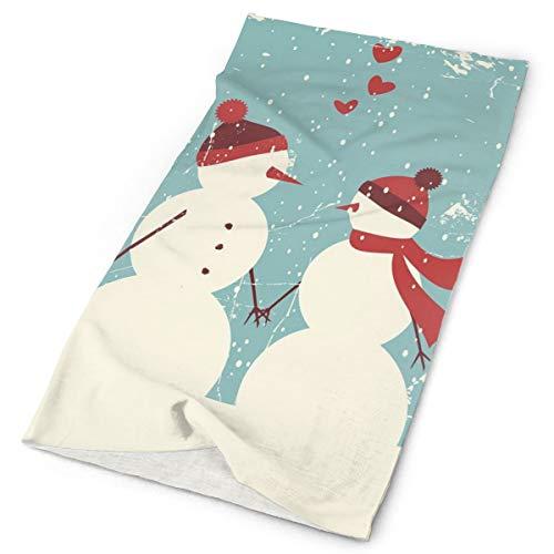 GUUi Headwear Headband Head Scarf Wrap Sweatband,Snowman and Woman Romantic Couple in Love Valentines Holding Hands Grunge,Sport Headscarves for Men Women