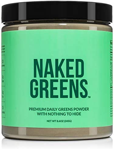 Super Greens Powder Organic Greens Supplement Only 10 Premium Ingredients Vegan Non GMO Prebiotic product image