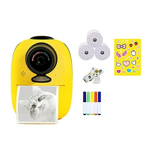 Instantcamera met printpapier, digitale instantprintcamera voor kinderen Creatieve camera voor jongens en meisjes…