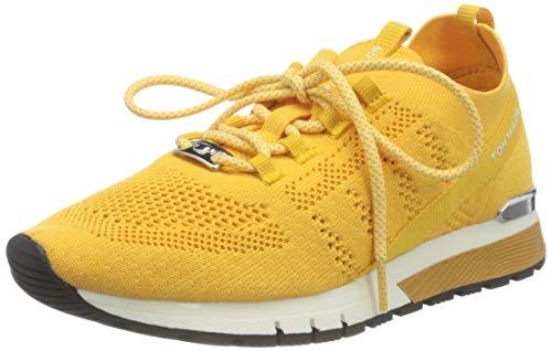 TOM TAILOR Damen 1191101 Sneaker, Yellow, 38 EU