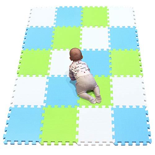 YIMINYUER Alfombra puzles para Bebe Puzzle Infantil Suelo Piezas Goma eva ninos de Suelo Grande Infantiles Blanco Azul Pastoverde R01R07R15G301020