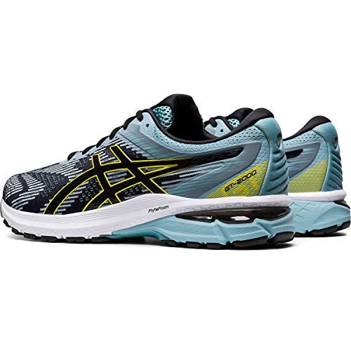 Asics GT-2000 8, Road Running Shoe para Hombre, Azul Humo/Negro, 48 EU