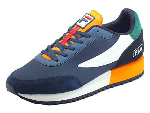 Fila Retronique Navy Rabbit - Zapatillas deportivas para hombre de nobuk y tela azul, verde y naranja Multicolor Size: 42 EU