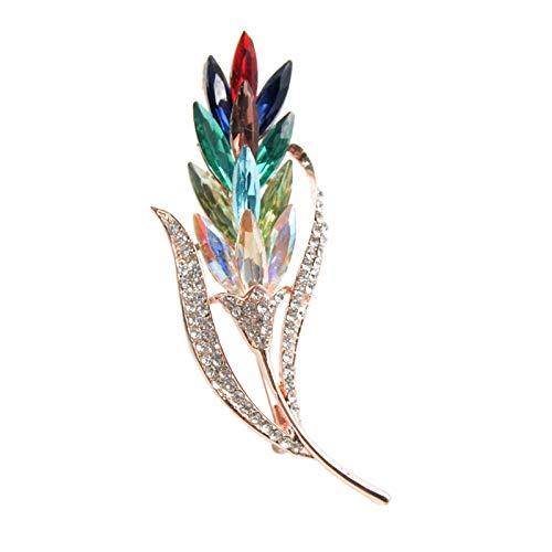 Broche Broches De Trigo De Diamantes De Imitación De Cristal Multicolor De Estilo Moderno Para Mujer