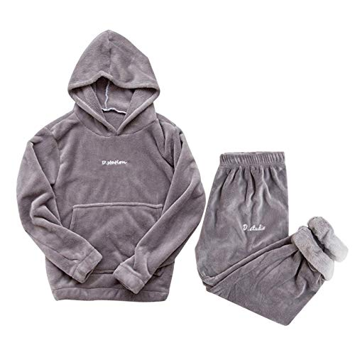 Sleepwear Herbst Winter Frauen Pyjama-Set Langarm Lose Pyjama Elastische Taille...