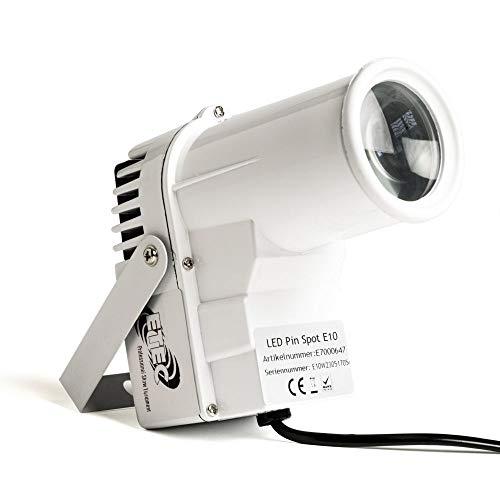 ETEC LED Pin Spot E10 RGBW 12 Watt 4in1 CREE DMX Punktstrahler weiss