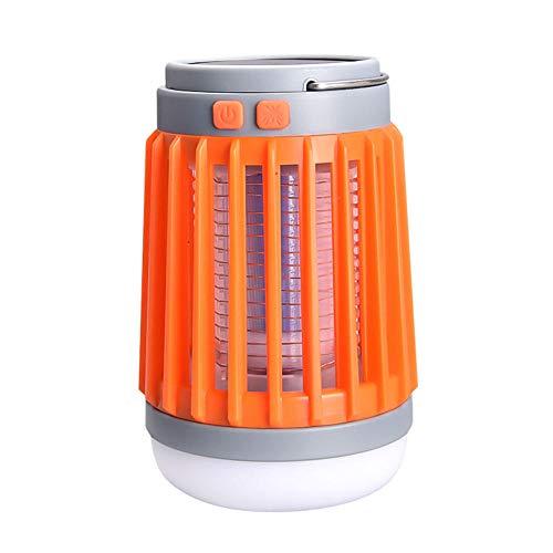 Lámpara solar para mosquitos al aire libre impermeable para acampar repelente de mosquitos que acampa iluminación anti-mosquitos lámpara de bombilla de carpa de carga USB