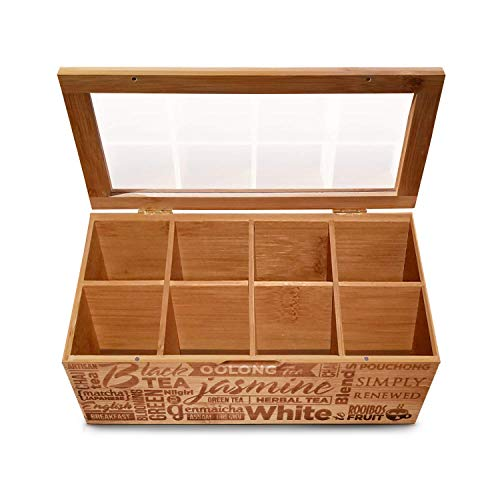 Simply Renewed Tea Box Storage Tea Bag...