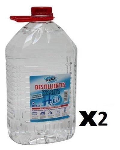 10 litros de Agua destilada (2 bidones de 5 litros Cada uno).