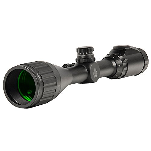 UTG 1' 3-9X50 AO True Hunter IE Scope w/Zero Locking/Reset WE, Rings und Sunshade Zielfernrohr, Schwarz, One Size