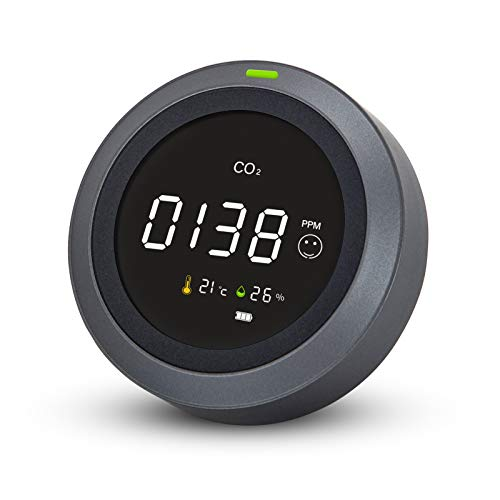 Monitor de CO₂ Detector de Calidad del Aire Therm La Mode para CO₂,Temperatura, Alarma Múltiple, Monitor de Calidad del Aire para Hogar Oficina Coche Gimnasio, Detector de Dióxido de Carbono