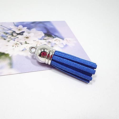 Borlas De Colores Llaveros Bolsa Encantos Joyas Borla Colgante Joyas Mujeres Hecho A Mano-Royal_Blue