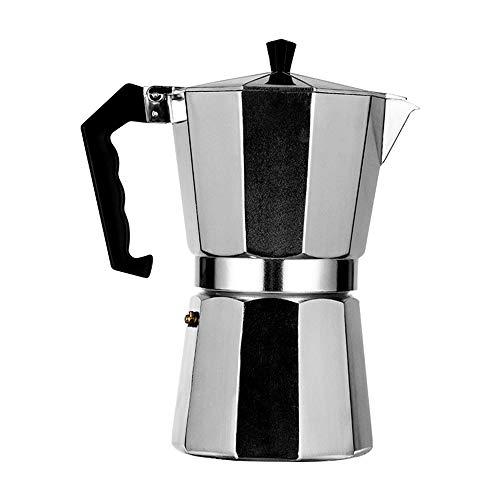 ZHHAOXINPA leicht Aluminium Moka Pot, Espressokocher, Achtseitig Kaffeetasse mit Sicherheitsventil, Espresso Maker, für Home Office Kaffeekanne für Männer Damen, 2 Cup