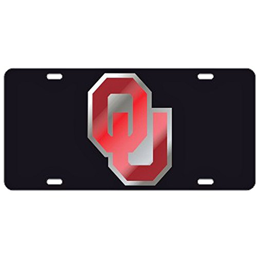 Oklahoma Sooners Black w/Red OU Laser Cut License Plate by Craftique