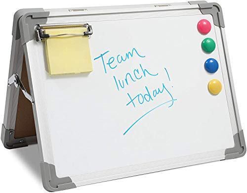 Magnetic Standing Easel Clipboard with 4 Magnets (11 x 15 x 0.6 Inches)