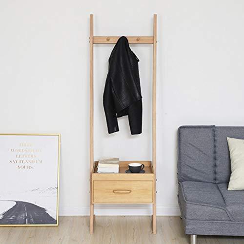 SDFGH Kapstok, van hout, hoedenplank, kledinghanger, kledinghanger, opslag, met lade