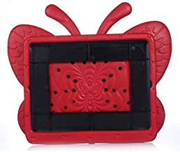 Red Style Kids Kickstand Butterfly Thick Foam EVA Handle Cover Case for iPad 2 3 4