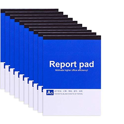 WPBOY Cuadernos 10 Paquetes en Blanco Bosquejo Cuadernos for los viajeros, Estudiantes, Oficina/Nota del Diario Asunto Cuadernos Planner (A6 A5 A4Size, 11.6X8.2inch Cuaderno de Moda (tamaño : A5)